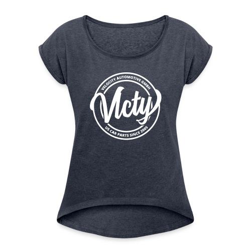 VLCTY - Vintage III - Frauen T-Shirt mit gerollten Ärmeln
