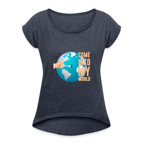 Caro cloth design - Women's T-Shirt with rolled up sleeves