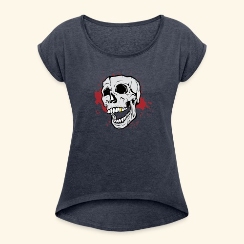 GIPSY SKULL - Maglietta da donna con risvolti