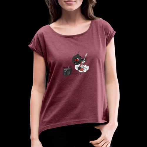 logo guitar - T-shirt à manches retroussées Femme