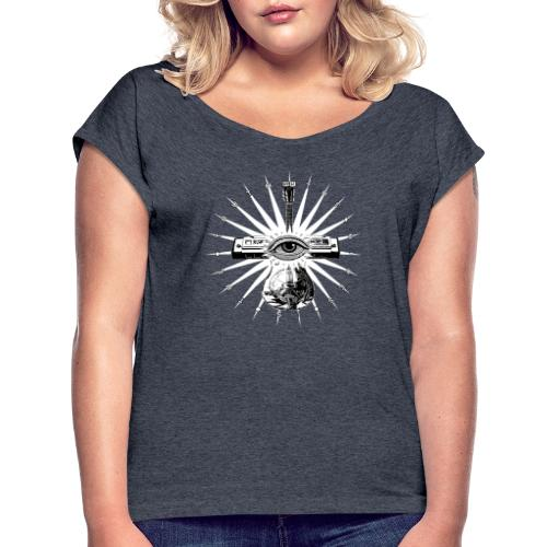 Blues Is The Truth - white star - Women's T-Shirt with rolled up sleeves