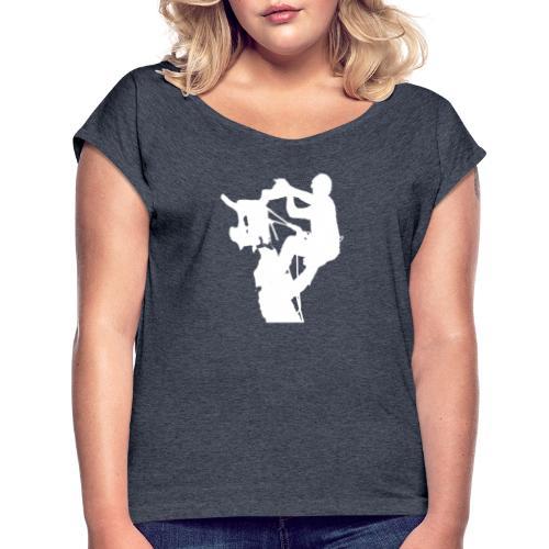 Baumpfleger Arborist - Frauen T-Shirt mit gerollten Ärmeln