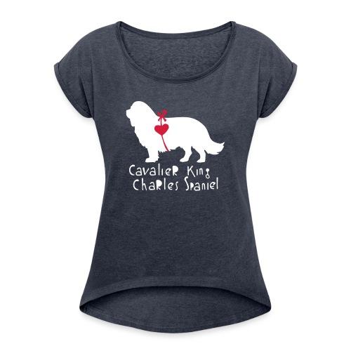 Cavalier Silhouette - Frauen T-Shirt mit gerollten Ärmeln