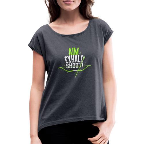 Bogenschütze - Frauen T-Shirt mit gerollten Ärmeln