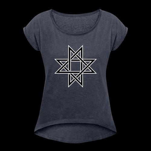 Octagram - Frauen T-Shirt mit gerollten Ärmeln
