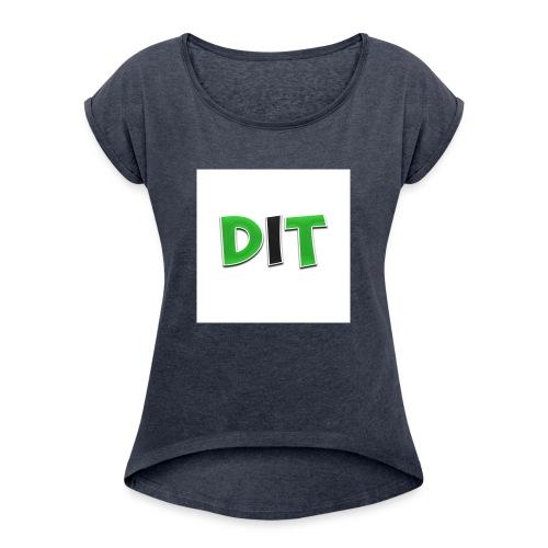 DaarIsTobias shirt korte mouwen - Vrouwen T-shirt met opgerolde mouwen