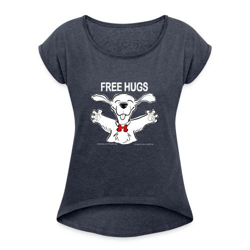 Free Hugs Premium Hugs - Maglietta da donna con risvolti