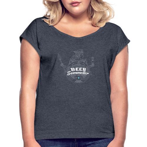 Swedish Beer Sommelier - Valkyrie white - T-shirt med upprullade ärmar dam