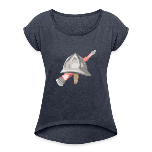 Feuerwehr Österreich - Frauen T-Shirt mit gerollten Ärmeln