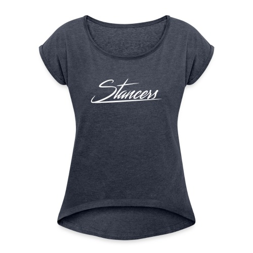 spread-stance - Women's T-Shirt with rolled up sleeves
