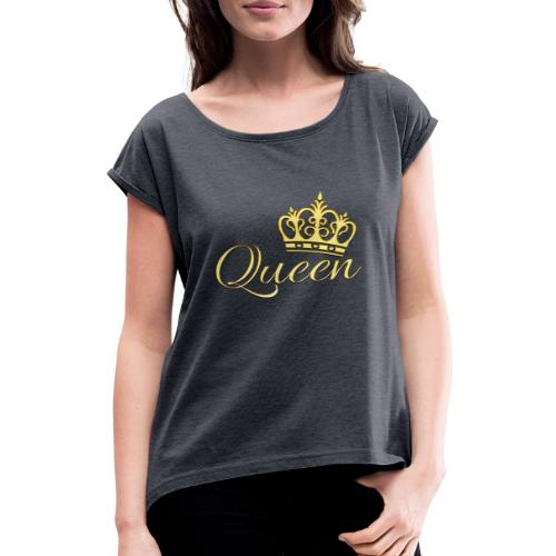 Queen Or -by- T-shirt chic et choc - T-shirt à manches retroussées Femme