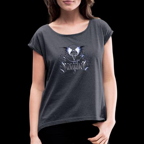 Fangaliel Logo - Women's T-Shirt with rolled up sleeves