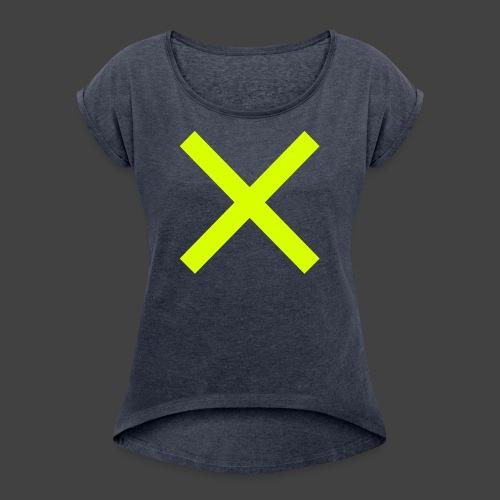 X×X - Frauen T-Shirt mit gerollten Ärmeln