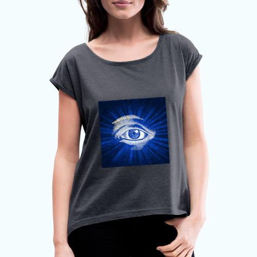 eye - Women's T-Shirt with rolled up sleeves