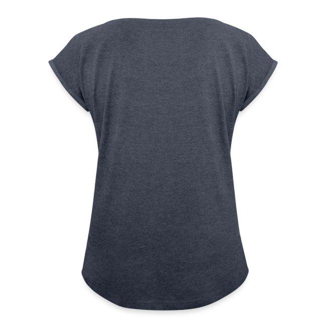 Vorschau: never walk alone hund pferd - Frauen T-Shirt mit gerollten Ärmeln