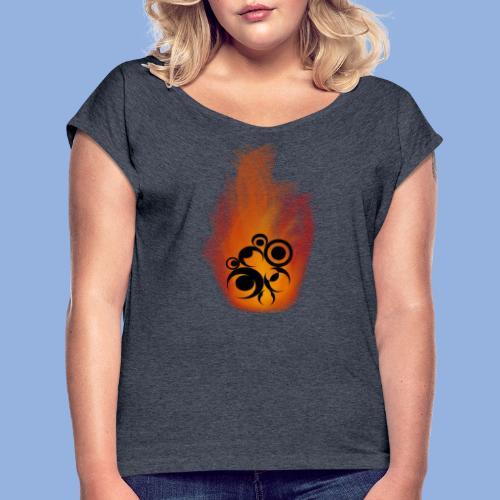 Should I stay or should I go Fire - T-shirt à manches retroussées Femme