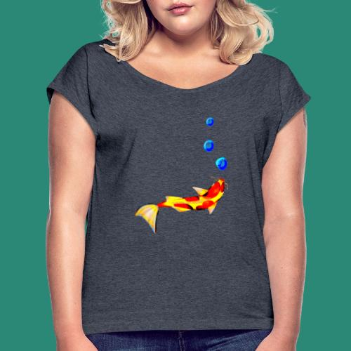 der Fisch - Frauen T-Shirt mit gerollten Ärmeln