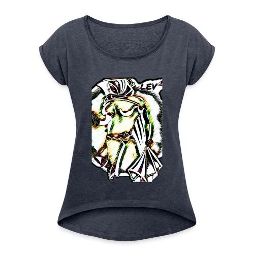 LEV 1 - Frauen T-Shirt mit gerollten Ärmeln