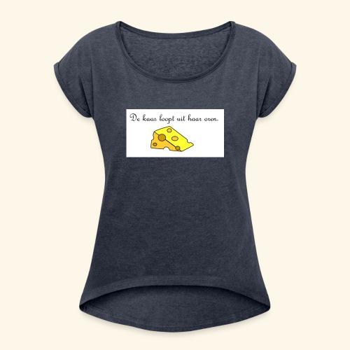 Kaas loopt uit haar oren - Temptation - Vrouwen T-shirt met opgerolde mouwen