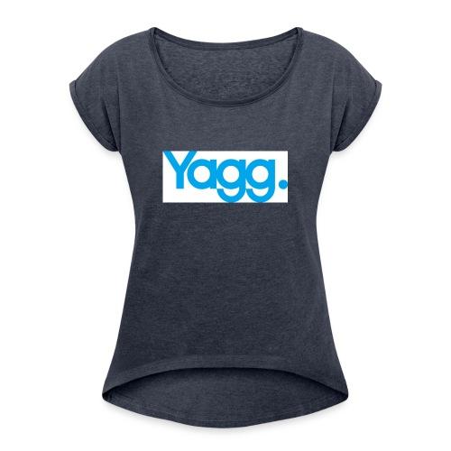 yagglogorvb - T-shirt à manches retroussées Femme