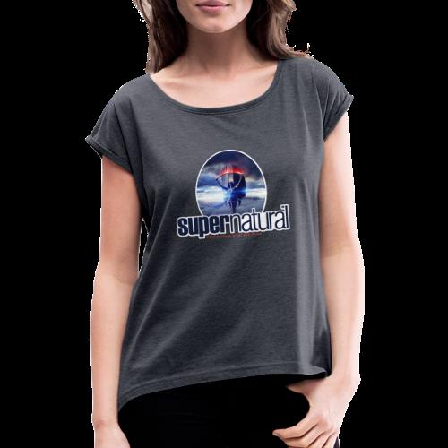 supernatural - Frauen T-Shirt mit gerollten Ärmeln