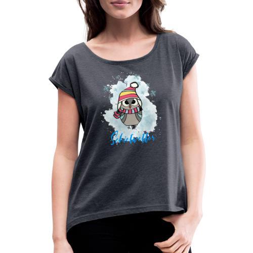 Schietwetter Design - Frauen T-Shirt mit gerollten Ärmeln
