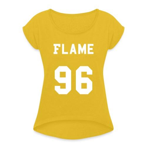 maglietta_flame_96 - Maglietta da donna con risvolti