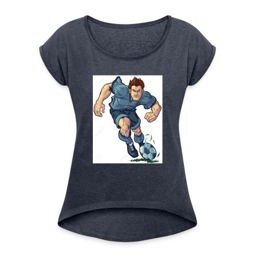 41982995-Vector-de-dibujos-animados-ilustraci-n-de - Camiseta con manga enrollada mujer