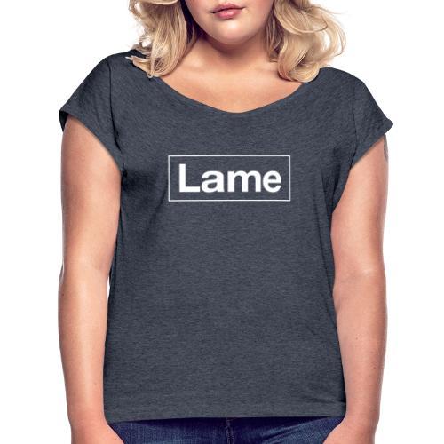 Lame border - Koszulka damska z lekko podwiniętymi rękawami
