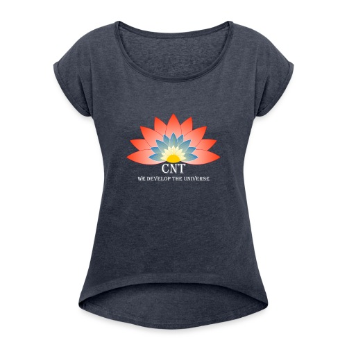 Support Renewable Energy with CNT to live green! - Women's T-Shirt with rolled up sleeves