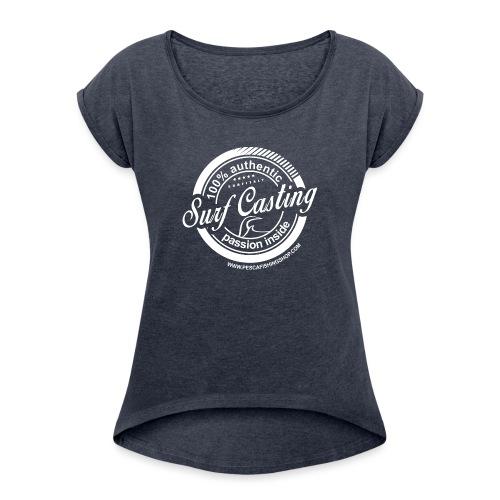 SURF CASTING - Maglietta da donna con risvolti