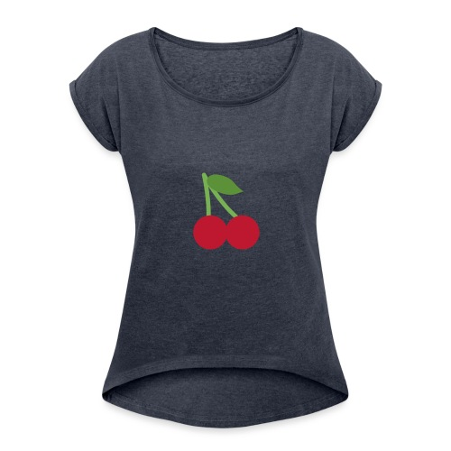 90CEA047 4427 4A39 9847 5D52158DF99B - Frauen T-Shirt mit gerollten Ärmeln