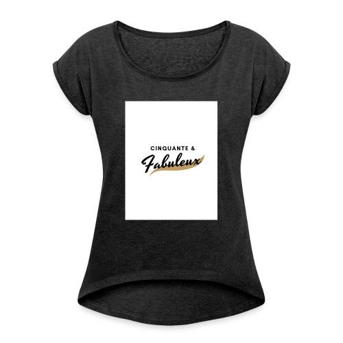 Cinquante - T-shirt à manches retroussées Femme