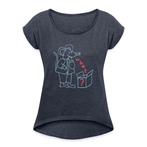 Weihnachts - Geschenke - Päckchen - Frauen T-Shirt mit gerollten Ärmeln