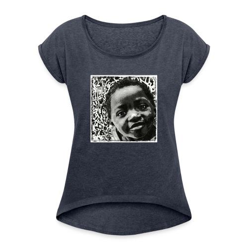 Street Art - T-shirt à manches retroussées Femme