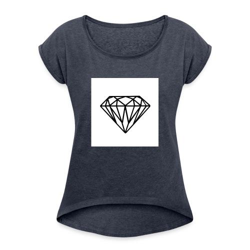 Diamante - Maglietta da donna con risvolti