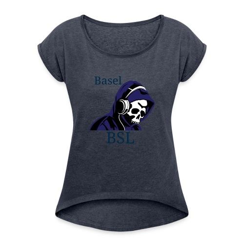 233A9534 08AC 48C8 A6C4 8D19A49BAE59 - Frauen T-Shirt mit gerollten Ärmeln