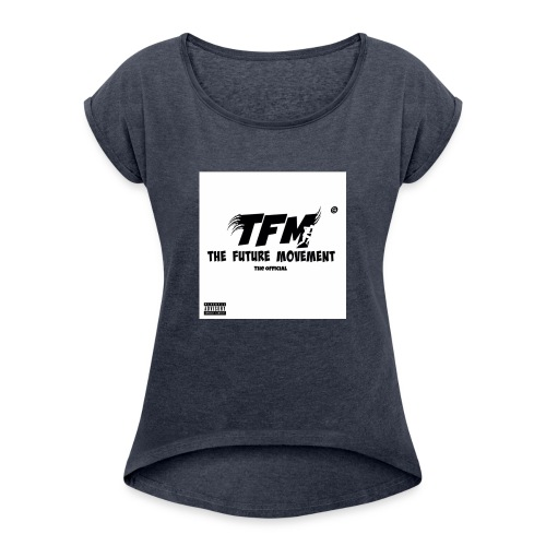 The Future Movement - Vrouwen T-shirt met opgerolde mouwen