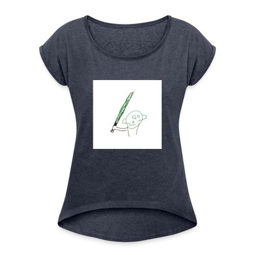 Algot ritar! - T-shirt med upprullade ärmar dam
