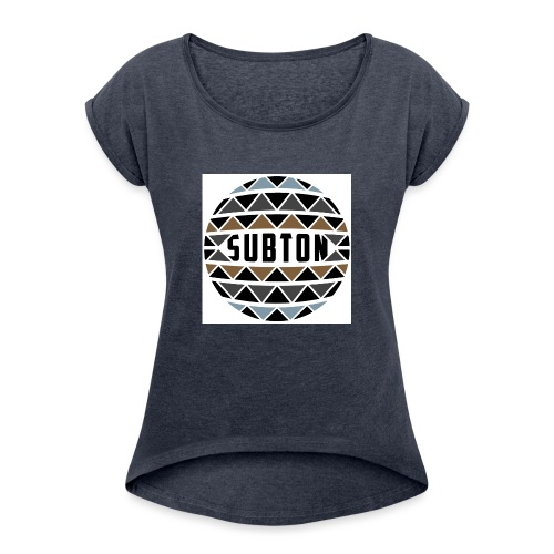 wereldbol_subton2-jpg - Women's T-Shirt with rolled up sleeves