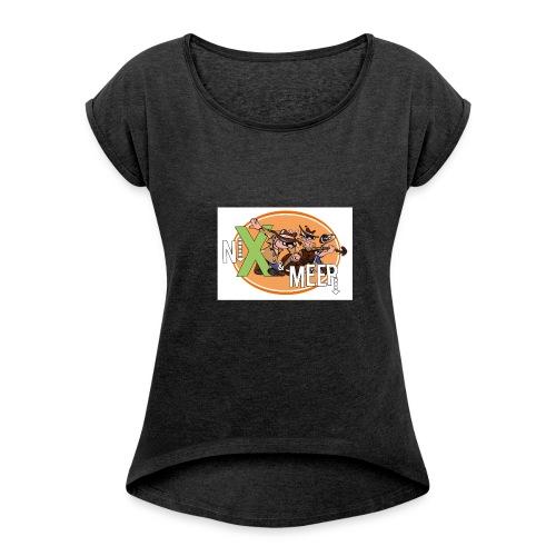 nixenmeer - Vrouwen T-shirt met opgerolde mouwen