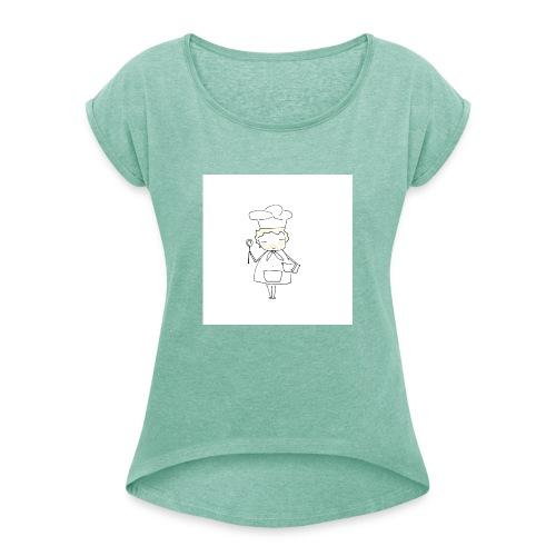 Maglietta 1 - Maglietta da donna con risvolti