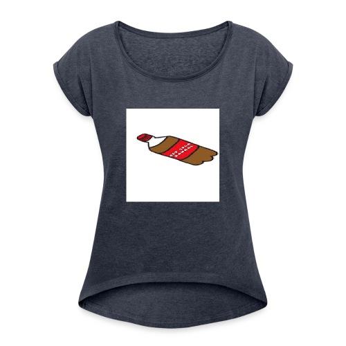 Fan T-Shit - Vrouwen T-shirt met opgerolde mouwen