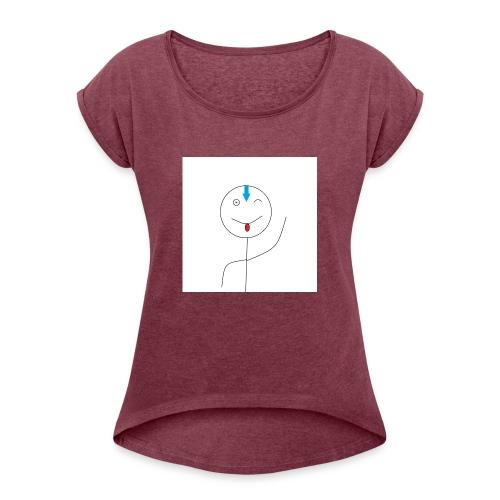 avatar stick man cover 6/6s - Dame T-shirt med rulleærmer
