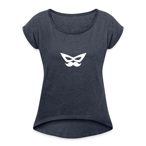 Spiffefrpath_logo - T-shirt med upprullade ärmar dam