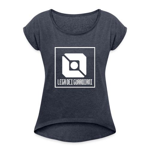 Lega Dei Guardiani - Logo Bianco - Maglietta da donna con risvolti
