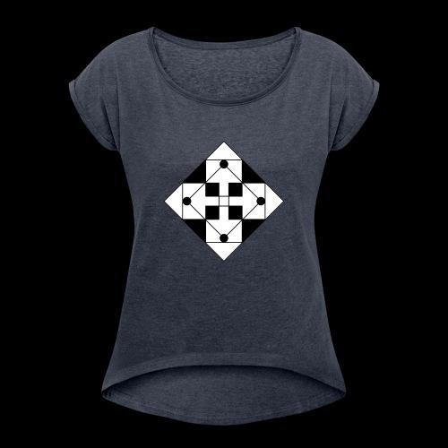 Veint One - Frauen T-Shirt mit gerollten Ärmeln