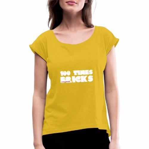 100 TIMES BRICKS retrò - Maglietta da donna con risvolti
