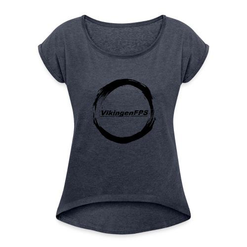 VikingenFPS MERCH - T-shirt med upprullade ärmar dam