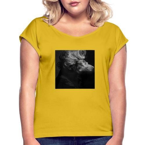 Mozartdackel - Frauen T-Shirt mit gerollten Ärmeln